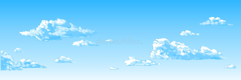 Blauwe hemel, wolken royalty-vrije illustratie