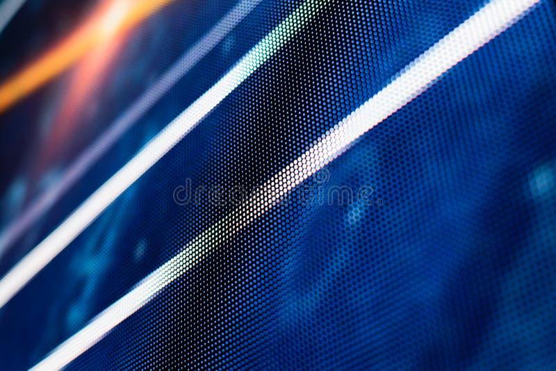 Blauwe het gekleurde LEIDENE smd scherm met witte lijnen stock foto