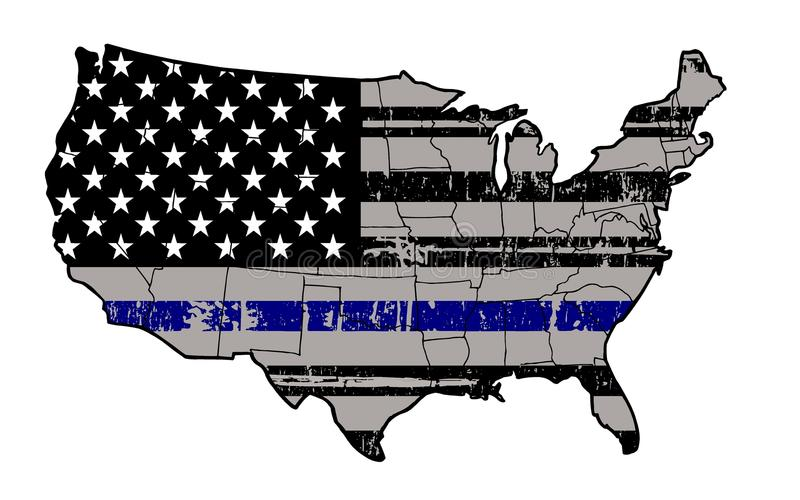 Blauwe het Levenskwestie - Tribune met onze Politie stock fotografie