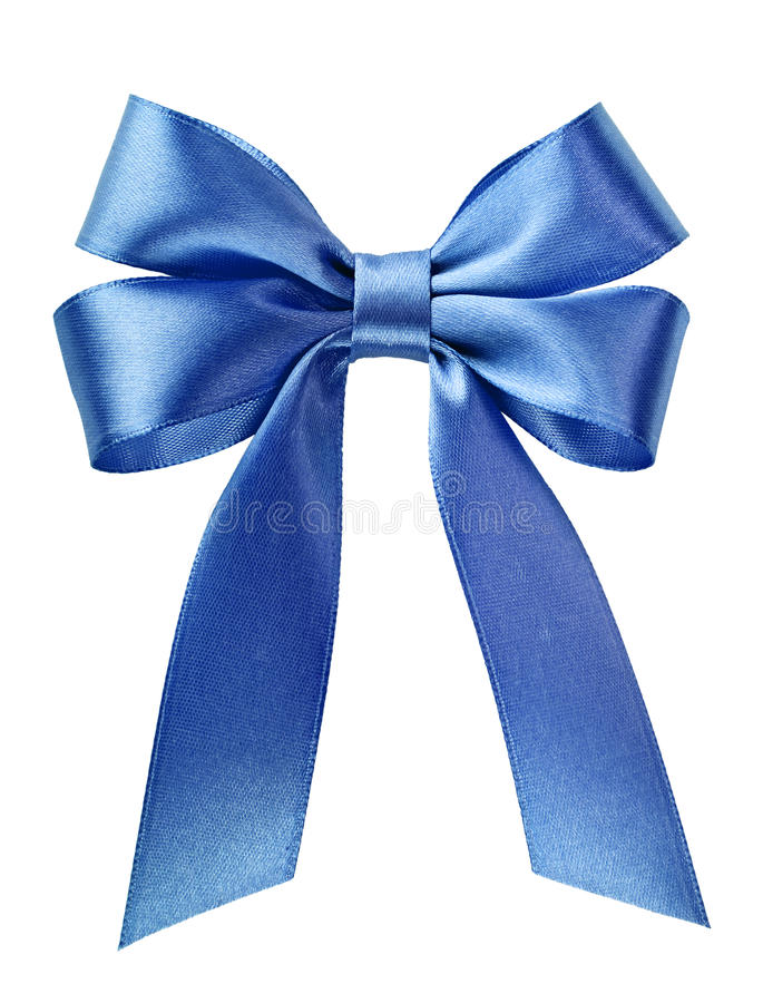 Blauwe het lintboog van het satijn royalty-vrije stock foto