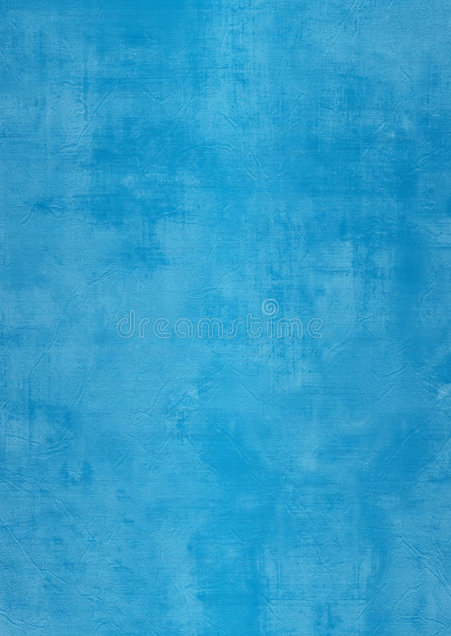 Blauwe het pleistermuur van Grunge met vlekken stock foto