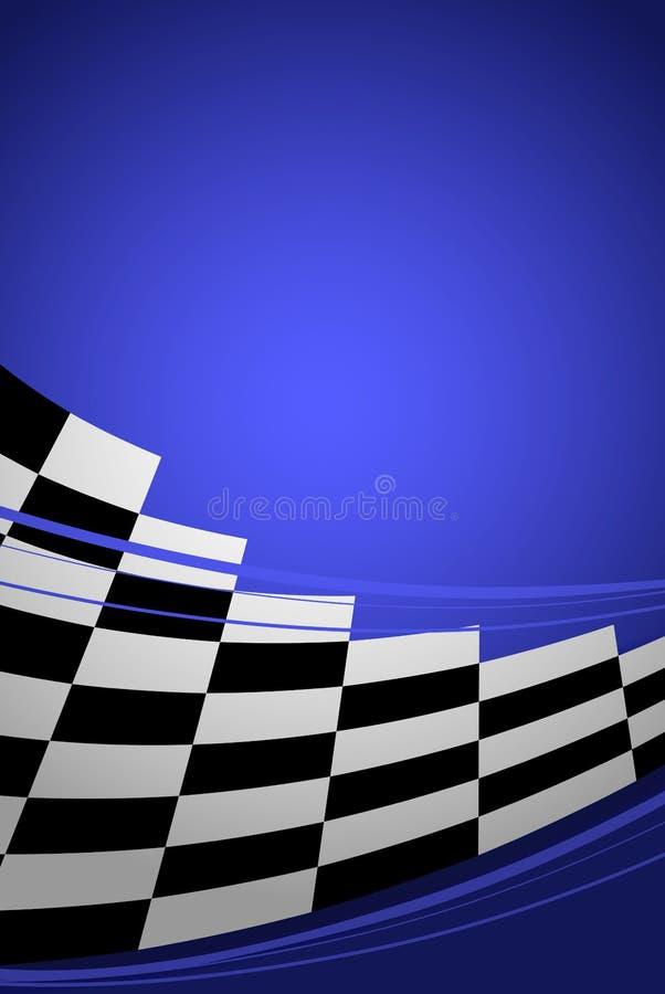 Blauwe het rennen achtergrond vector illustratie