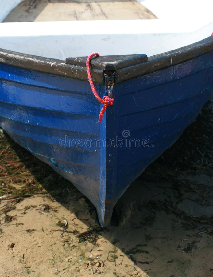 Blauwe het Roeien Boot royalty-vrije stock afbeelding