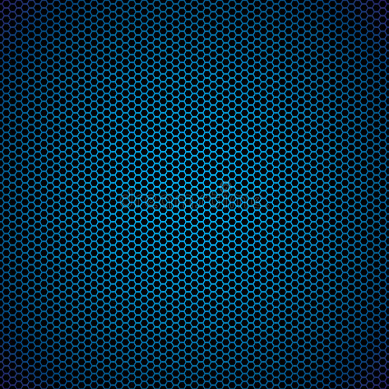 Blauwe hexagon metaalachtergrond vector illustratie