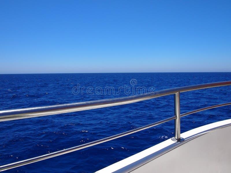 Blauwe horizon en duidelijke hemel royalty-vrije stock afbeeldingen