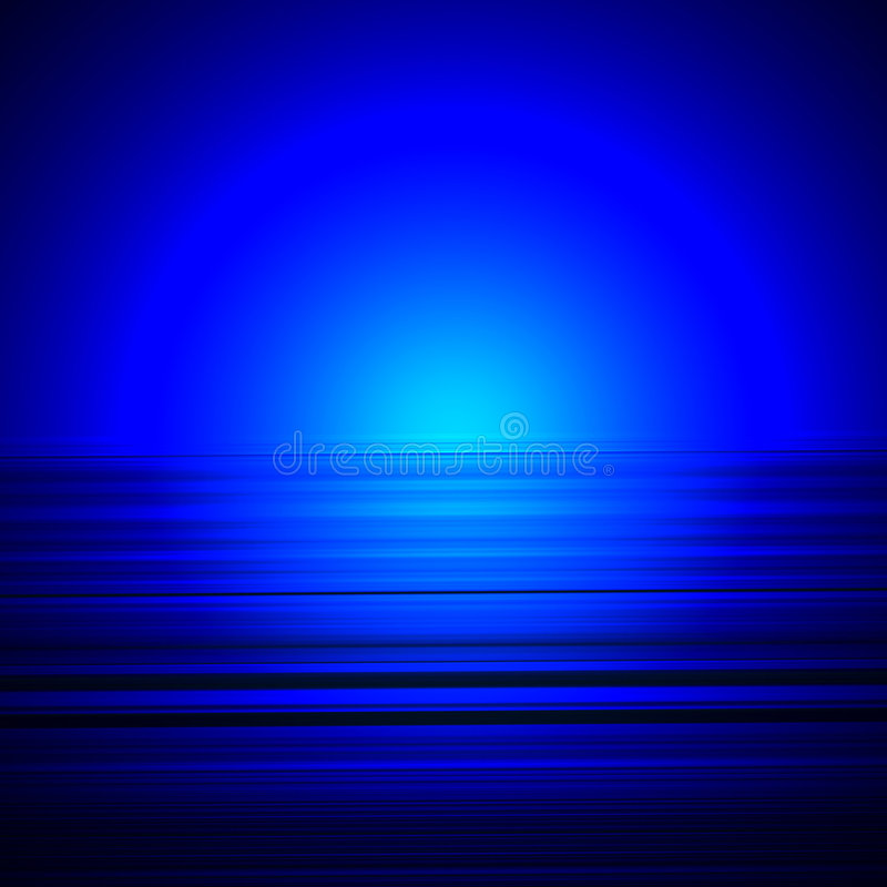 Blauwe horizonnen stock illustratie