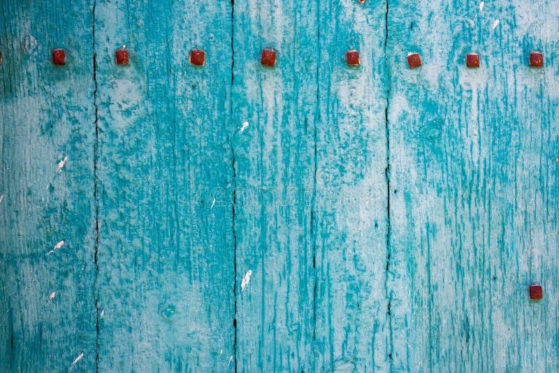 Blauwe Houten Abstracte Achtergrond Stock Foto