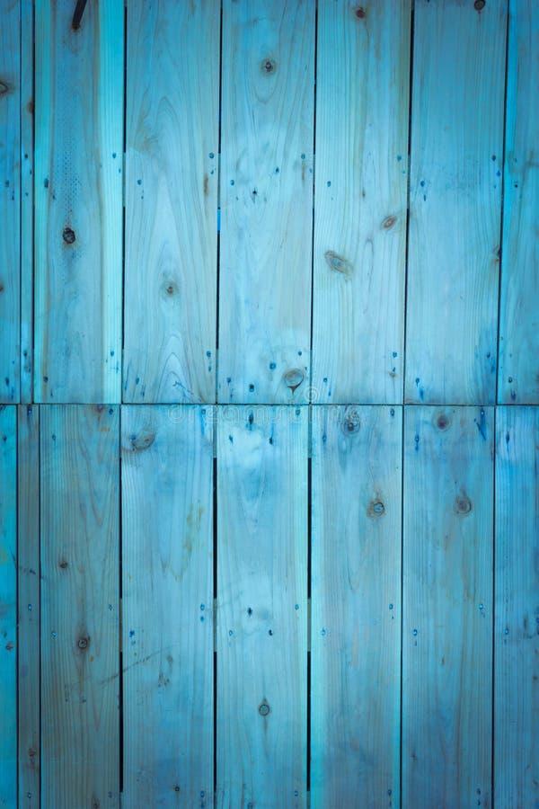 Blauwe houten achtergronden, uitstekend beeld royalty-vrije stock fotografie