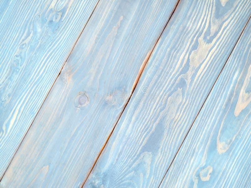 Blauwe houten oppervlakte stock fotografie