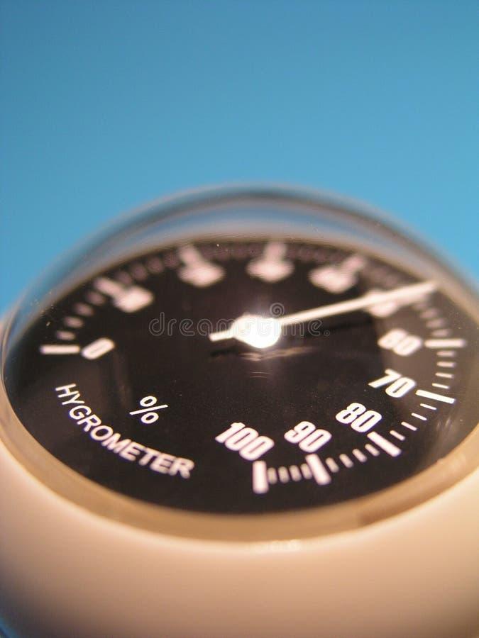 Blauwe Hygrometer royalty-vrije stock fotografie