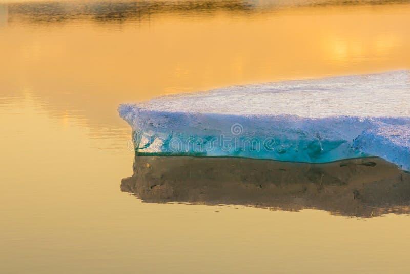 Blauwe ijsbergen royalty-vrije stock afbeelding