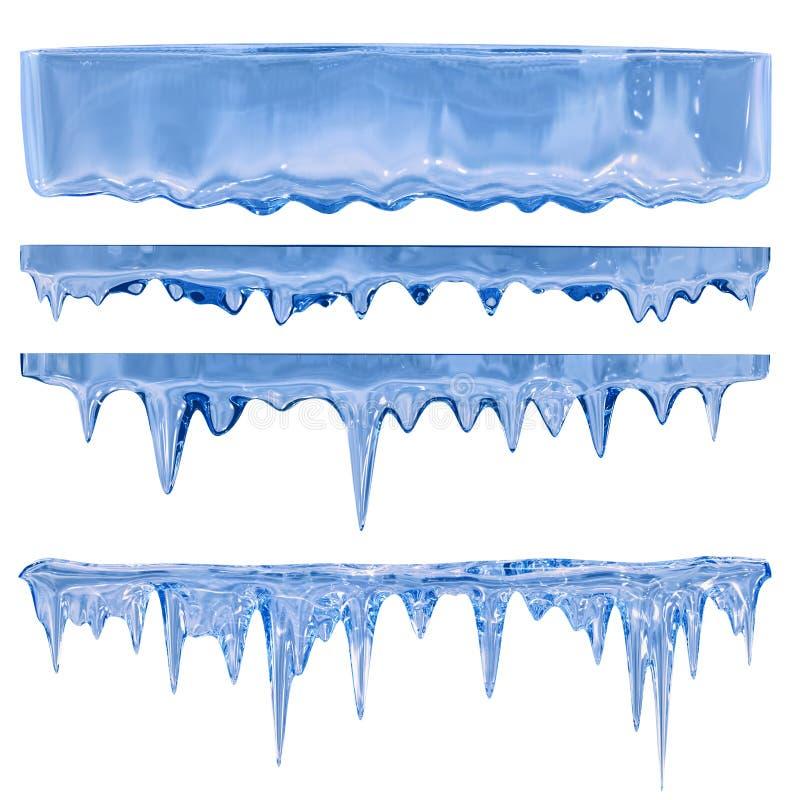 Blauwe ijskegels stock foto's