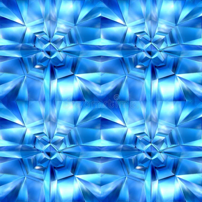 Blauwe ijzige kubussen vector illustratie