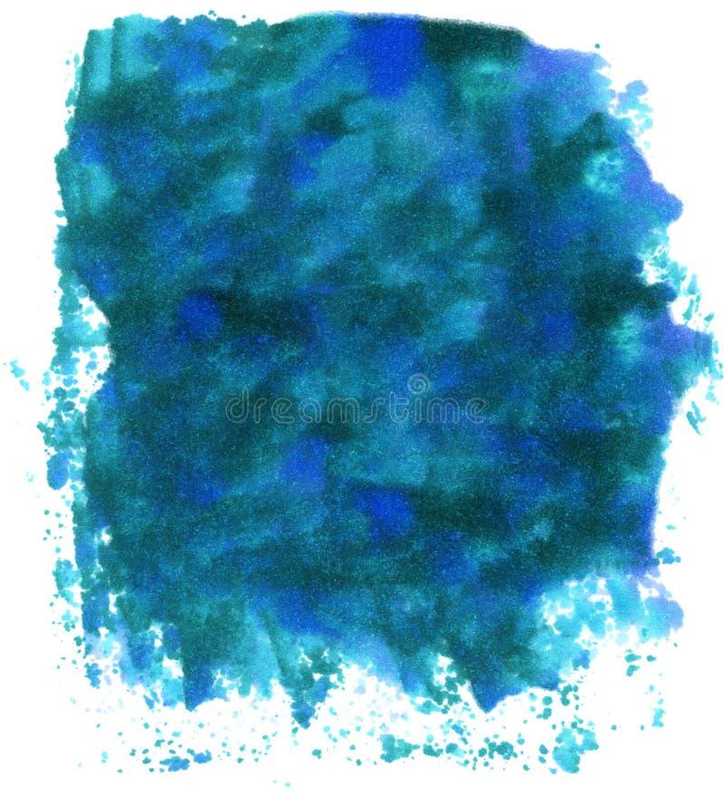 Blauwe Inktvlekken royalty-vrije illustratie