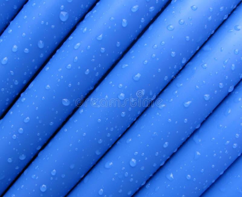 Blauwe kabel stock afbeelding