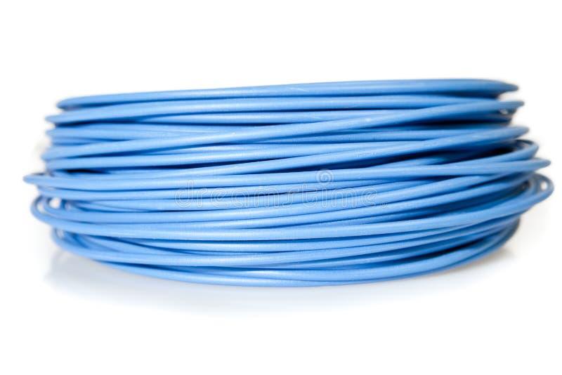 Blauwe kabel stock foto