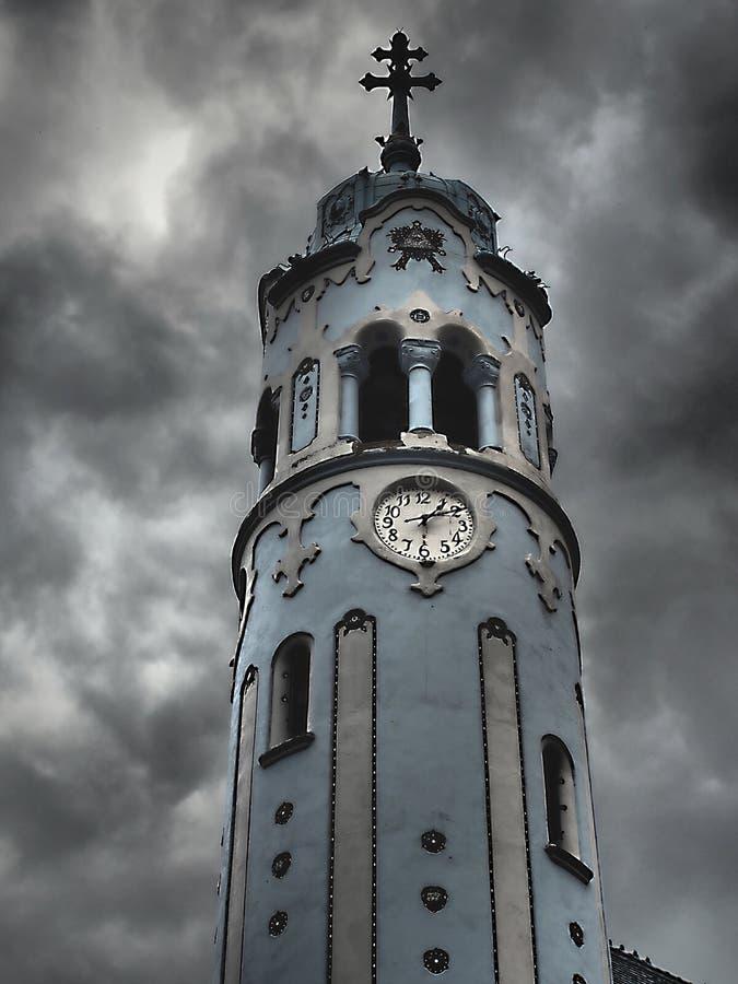 Blauwe Kerk - de Deze aantrekkelijkste bouw van Bratislava Art Nouveau is officieel genoemd geworden Kerk van Heilige Elizabeth v royalty-vrije stock foto's