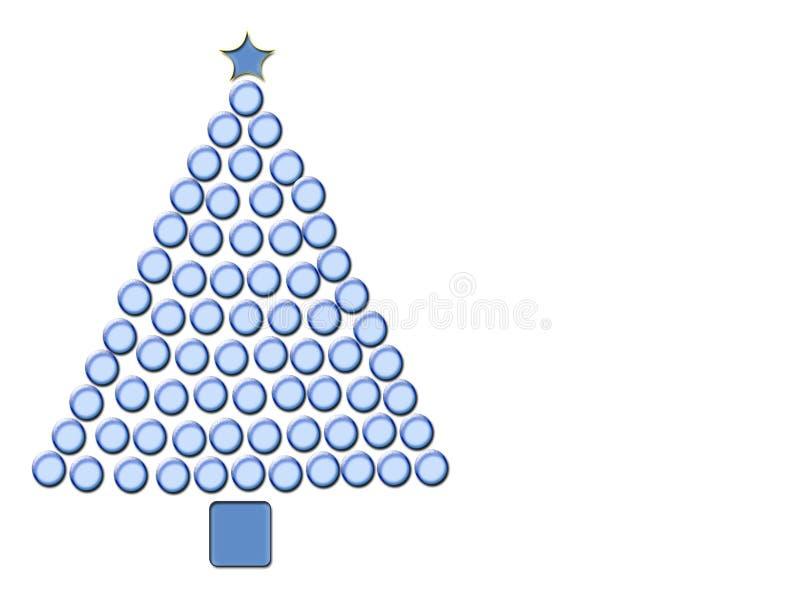 Blauwe Kerstboom royalty-vrije illustratie