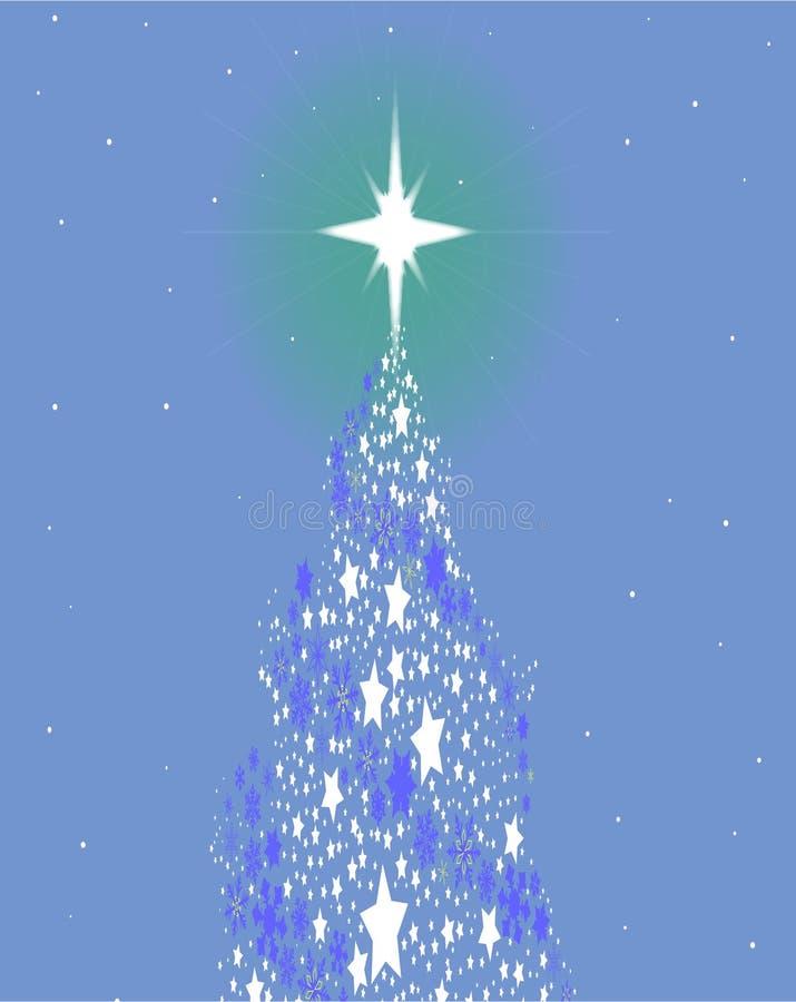 Blauwe Kerstboom vector illustratie