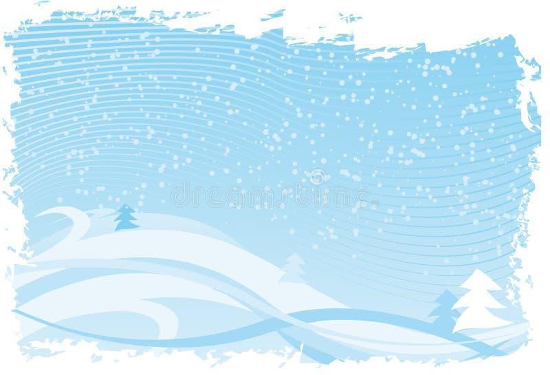 Blauwe Kerstmis royalty-vrije illustratie
