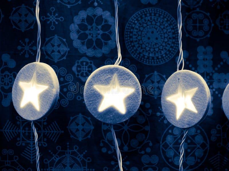 Blauwe Kerstmis stock foto's