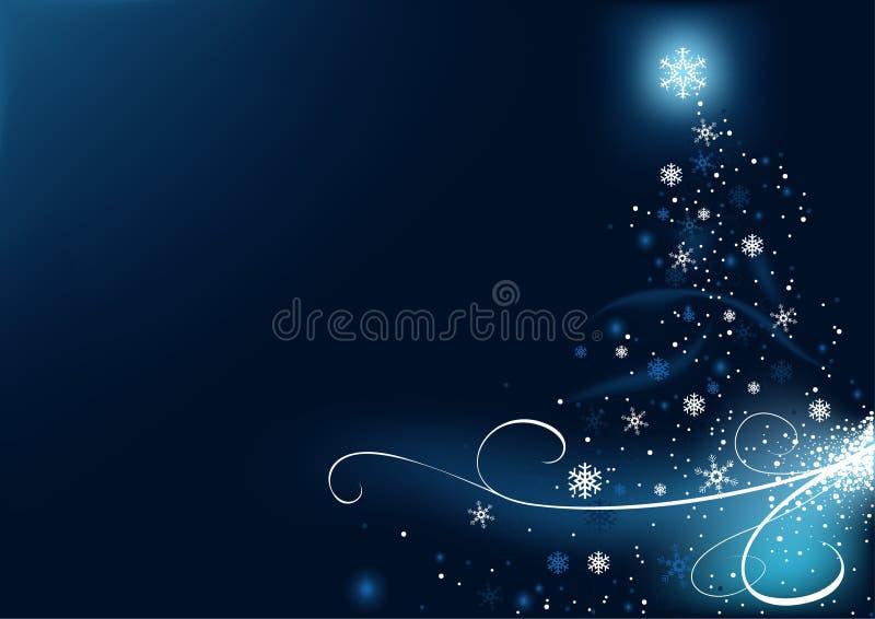 Blauwe Kerstmis stock illustratie