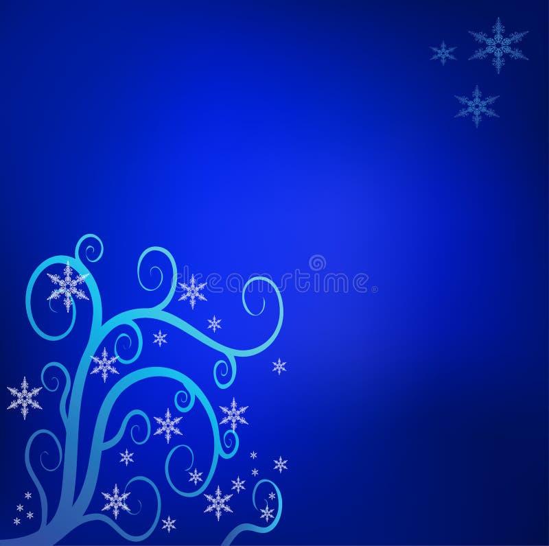 Blauwe Kerstmisachtergrond stock illustratie