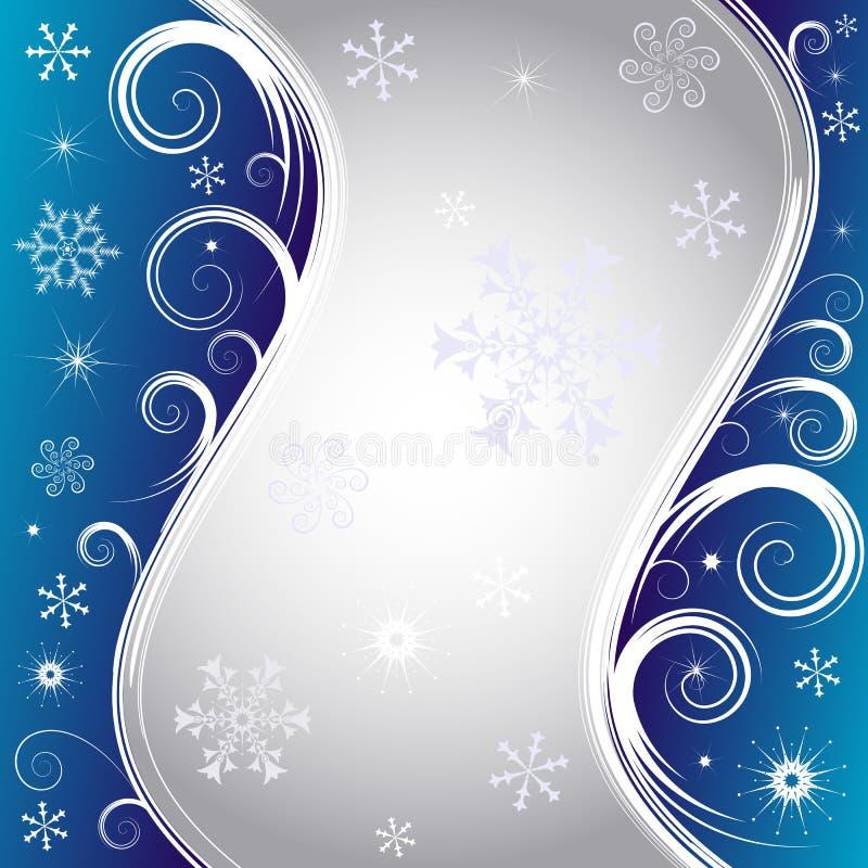Blauwe Kerstmisachtergrond (vector) royalty-vrije illustratie