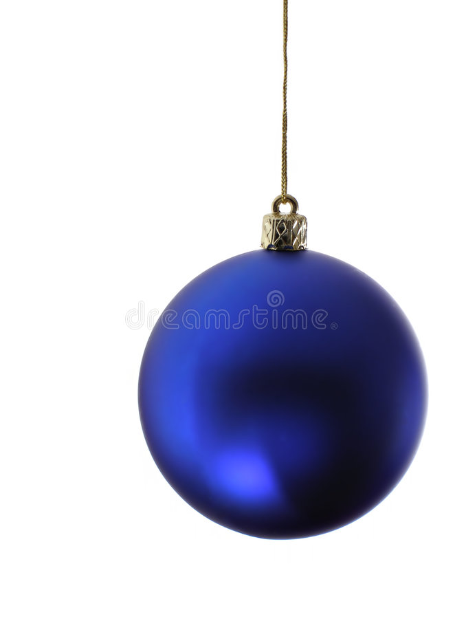 Blauwe Kerstmisbal royalty-vrije stock foto