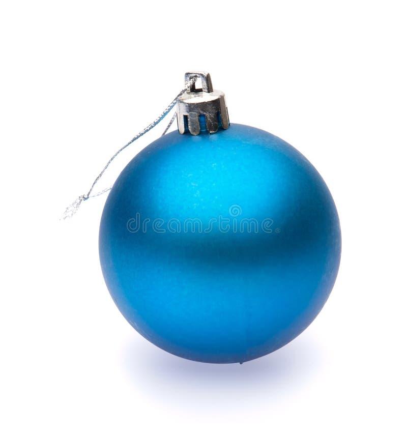 Blauwe Kerstmisbal stock afbeelding