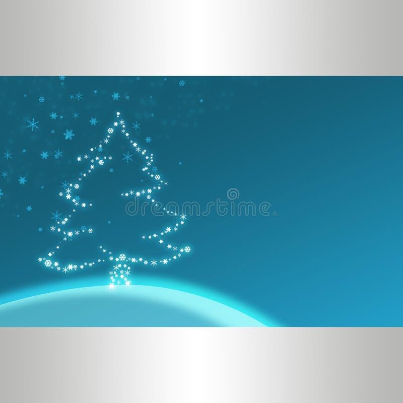 Blauwe Kerstmisillustratie vector illustratie