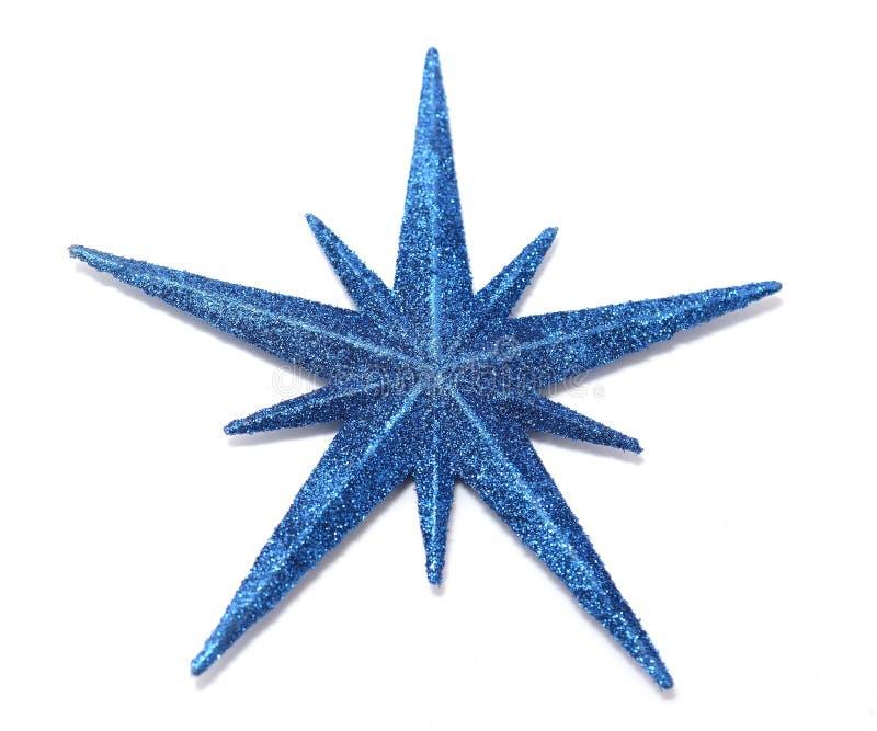 Blauwe Kerstmisster royalty-vrije stock afbeeldingen