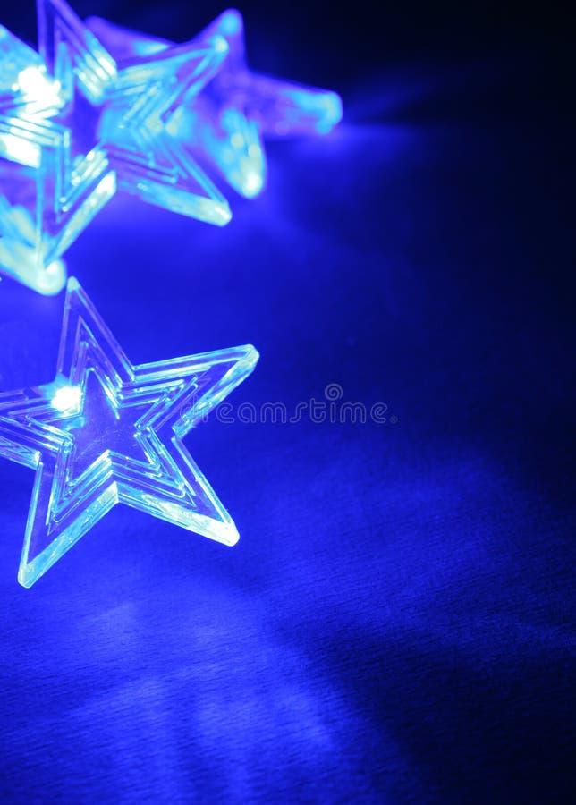 Blauwe Kerstmissterren royalty-vrije stock afbeeldingen