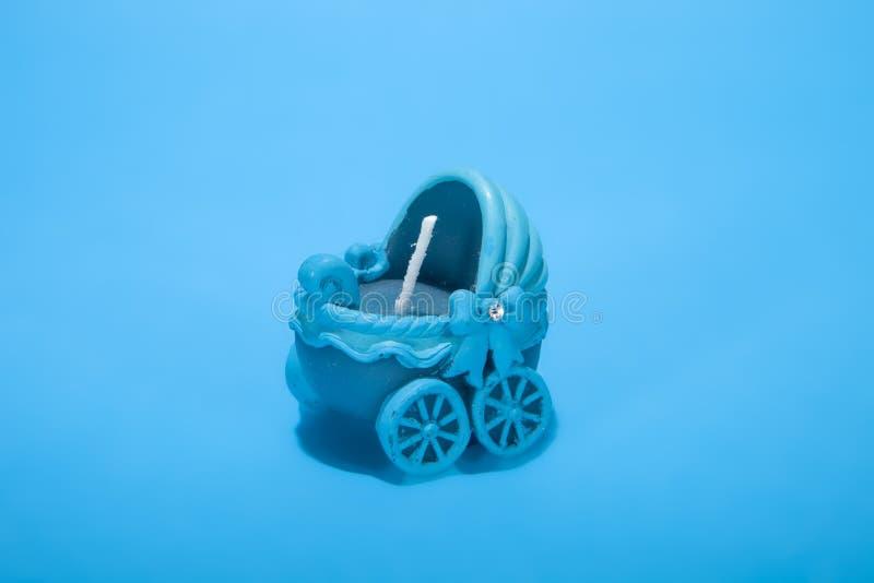 Blauwe kinderwagen stock foto's