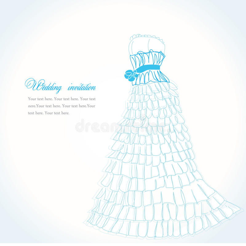 Blauwe kledingsillustratie royalty-vrije illustratie