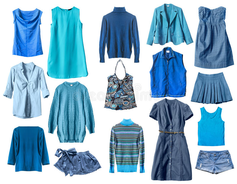 Blauwe kleren royalty-vrije stock afbeelding