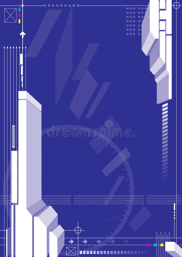 Blauwe kleuren 3d structuur vector illustratie