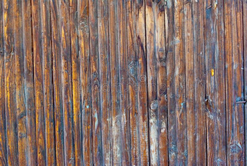 Blauwe kleurrijke houten muur stock fotografie