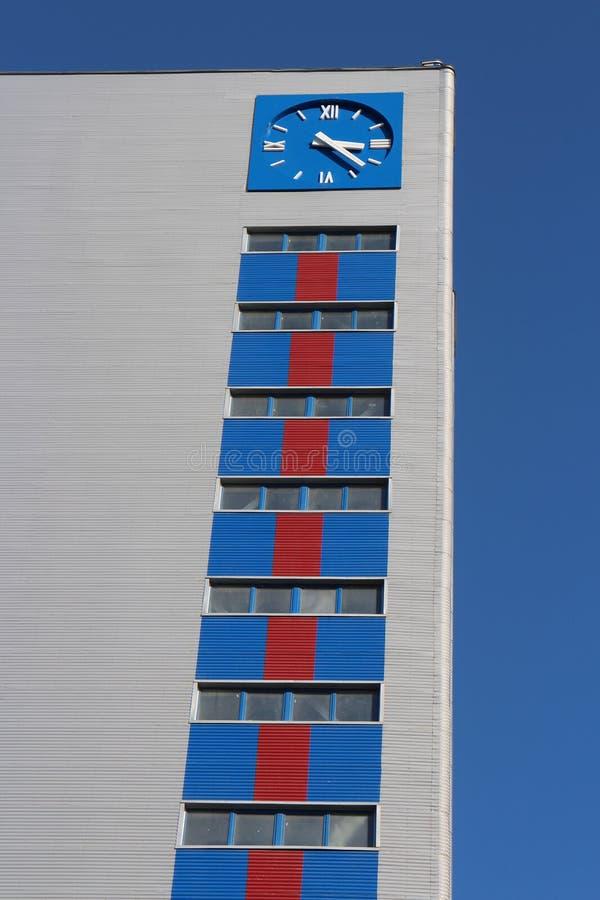 Blauwe klokketoren royalty-vrije stock foto