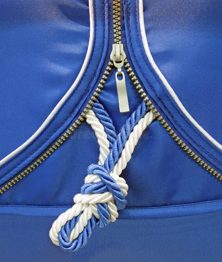 Blauwe knoop, nieuw veiligheidsconcept, royalty-vrije stock foto