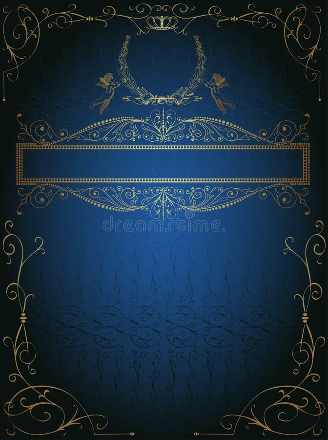 Blauwe koninklijke reclame als achtergrond stock illustratie