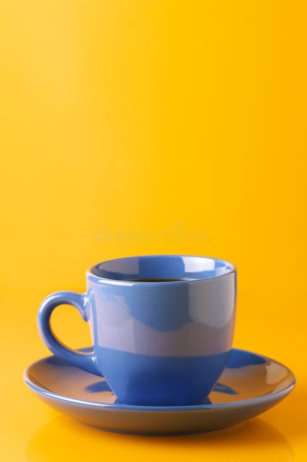Blauwe kop van koffie royalty-vrije stock afbeeldingen