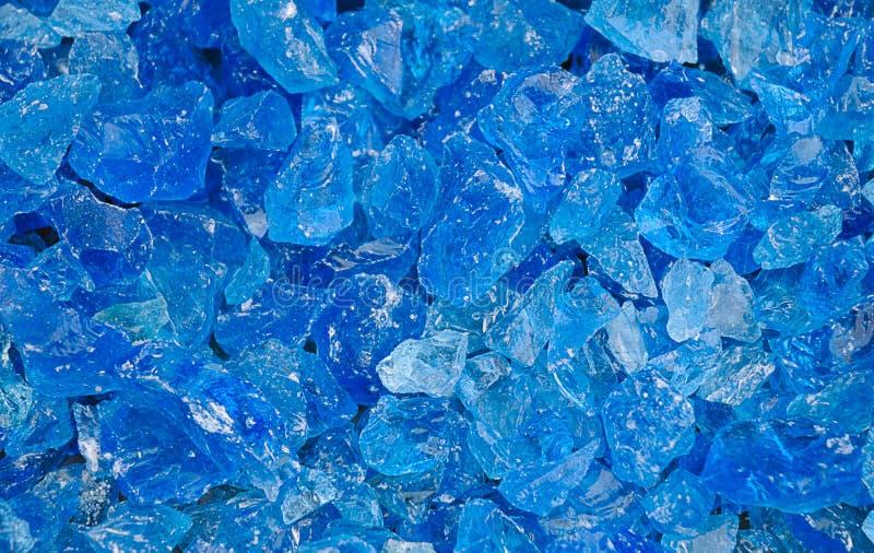 Blauwe Kristallen royalty-vrije stock afbeelding