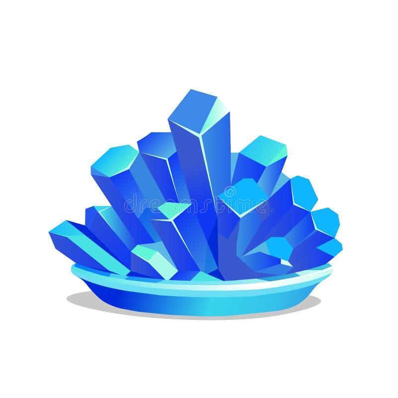 Blauwe kristallen van kopersulfaat
