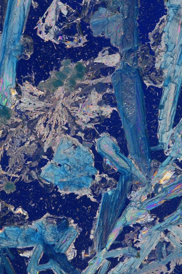 Blauwe kristallijne samenvatting royalty-vrije stock afbeeldingen
