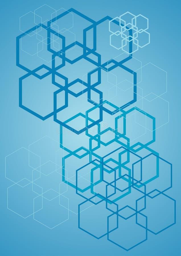 Blauwe kubussen stock illustratie