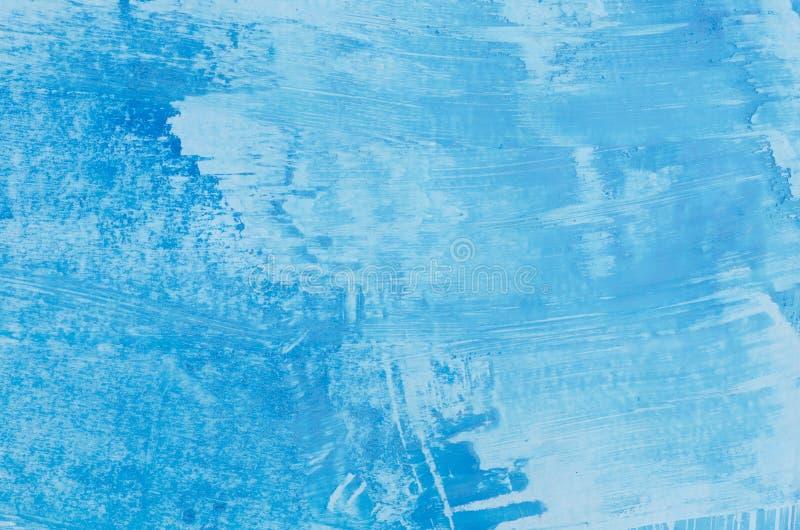 Blauwe kunst abstracte textuur als achtergrond stock foto