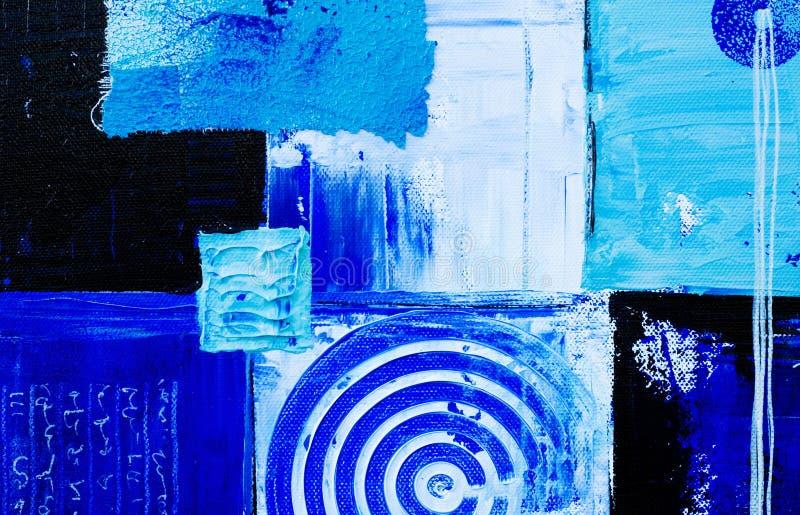 Blauwe kunstachtergrond stock illustratie