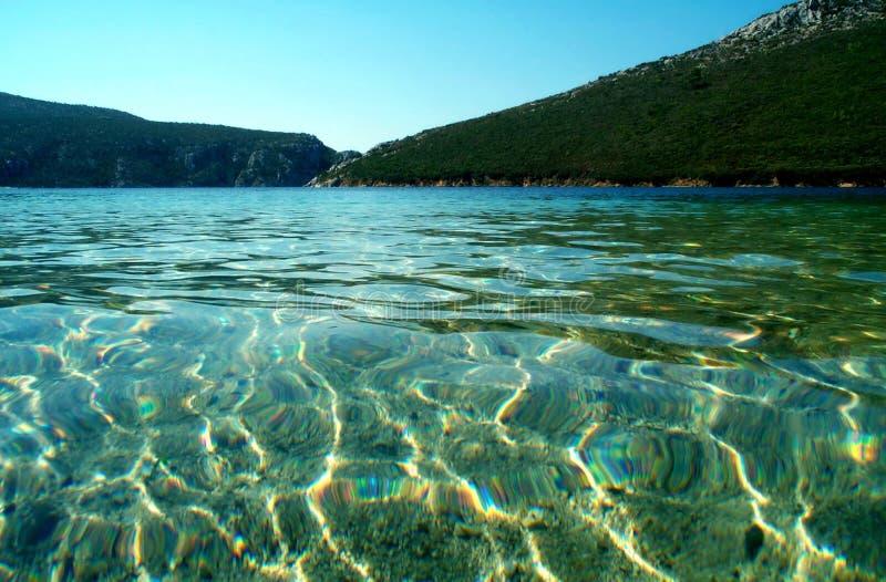 Blauwe lagune royalty-vrije stock afbeeldingen