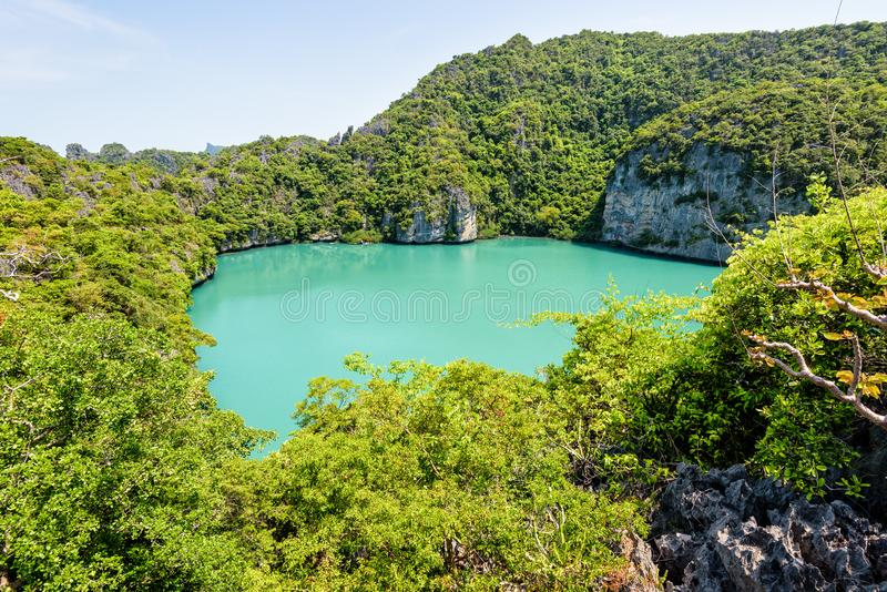 Blauwe Lagune Emerald Lake royalty-vrije stock fotografie